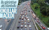 Okullar açıldı, İstanbul trafiği durma noktasına geldi