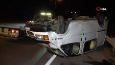 Samsun'da fındık yüklü minibüs takla attı: 3 yaralı