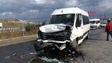Sancaktepe'de okul servisi kaza yaptı