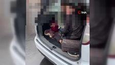 TEM'deki aracın bagaj ve yolcu kısmından 8 kaçak göçmen çıktı