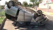 Antalya'da aracıyla takla atan sürücünün yakınları, ölmediğine ikna olmadı