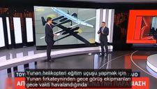 Askeri helikopterin önünden geçen Türk İHA'sı Yunan medyasını panikletti