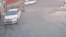 Esenyurt'ta, aracıyla otomobile çarpıp kaçtı