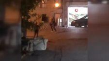 İstanbul'da torbacılar arasında çıkan çatışma kamerada