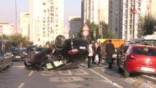 İstanbul'da trafik canavarı yine kazaya sebep oldu