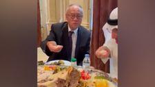 Japonya Büyükelçisi Fumio, Suudi Arabistan'da eliyle pilav yedi