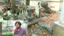 Sarıyer'de Osmanlı Dönemi'ne ait mezarla kaderine terk edildi