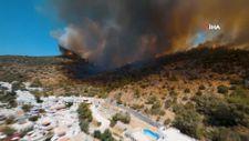 Yarış drone'u ile Muğla'daki orman yangınları görüntülendi