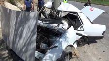 Gaziantep'te, kaza yapan Tofaş ikiye katlandı