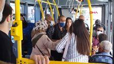 Sivas'ta halk otobüsünde 'maske' kavgası