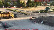 Tokat'ta güvenlik kameralarına yansıyan kazalar