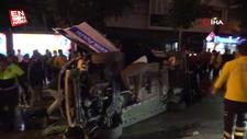 Çorum'da şüphelendiği aracı kovolayan polis otomobili takla attı