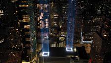 ABD'de 11 Eylül anma ışıkları test edildi
