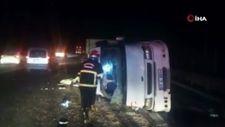 Şanlıurfa'da tarım işçilerini taşıyan minibüs devrildi