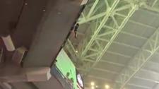 Miami'deki Hard Rock Stadyumu'nun çatısından düşen kedi kurtarıldı