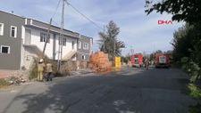 Silivri'de doğalgaz kutusu yandı