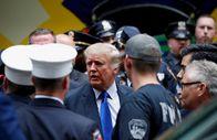 Trump'tan 11 Eylül'ün 20. yıl dönümünde New York polisi ve itfaiyesine sürpriz ziyaret