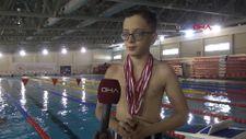 12 yaşındaki Yaman Rüzgar, yüzmede rekor üstüne rekor kırdı