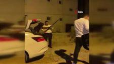 Antalya'da, drift atan silahlı magandalar kamerada