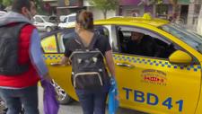 Bakırköy'de müşteri almayan taksici ile yolcu arasında kısa mesafe tartışması