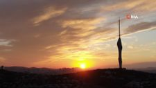 Çamlıca Kulesi ile gün doğumu birleşti