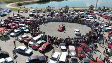 Erzincan'da drift gösterisi