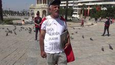 Evlat nöbetindeki baba İzmir'den Ankara'ya yürüyecek