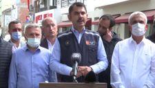 Murat Kurum: Sel bölgelerinde 952 konut ve 170 köy evinin yapımına başlandı