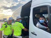 Üsküdar'da trafik ekiplerinden okul servislerine denetim