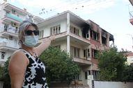 Antalya'da bimekan şahısların sebep olduğu düşünülen bina alev alev yandı