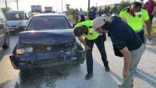 Düzce'de yaşanan kazada tıkanan yol, başka kazaya neden oldu: 6 araç hasarlı