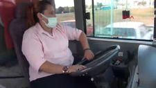 Kütahya'da ilk kez bir kadın, otobüs şoförlüğüne başladı