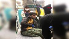 Van'da kayalıklara sıkışan kaçak göçmeni, AFAD ekipleri kurtardı