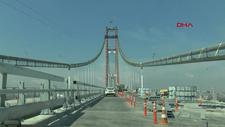 1915 Çanakkale Köprüsü'nün tamamlanan Lapseki yakasından geçiş yapıldı