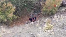 Manisa'da tuvalet ihtiyacını gidermek isteyen şahıs, uçurumdan yuvarlandı