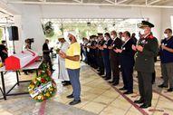 57 yıl sonra cenazesi Kıbrıs'a getirilen asker defnedildi