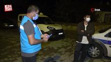 Kırıkkale'de koronalı halde sokağa çıkan bir kişi yakalanınca tepki gösterdi