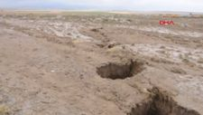 Konya'da yaylada dev yarıklar oluştu