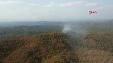 Marmaris'te yıldırım düşmesi sonucu 1 dekar orman yandı