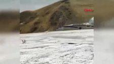 Erzurum'a ilk kar düştü