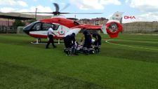 Malatya'da hava ambulansı yaşlı kadını kurtardı