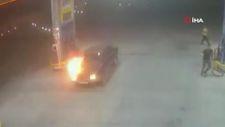 Çanakkale'de benzin istasyonunda facianın eşiğinden dönüldü
