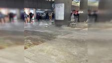 Meksika'da havalimanını su bastı