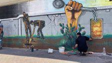 Ressamlar İsrail hapishanesinden kaçan Filistinlileri resmetti