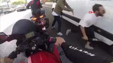 Sarıyer'de motosiklet sürücüsüne bıçaklı saldırı