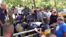 Sultangazi'de babasını soyan kapkaç çetesini kovalarken kaza yaptı