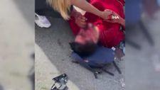 Antalya'da elektrikli bisikletle anneyle 2 çocuğuna motosiklet çarptı