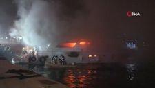 Bebek'te aynı teknede bir günde ikinci yangın