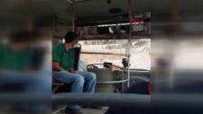Kocaeli'de maske takmayan şoförün yolcuyla tartışması
