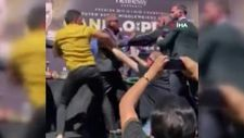 ABD'li ve Meksikalı boksörler, basın toplantısında birbirine girdi